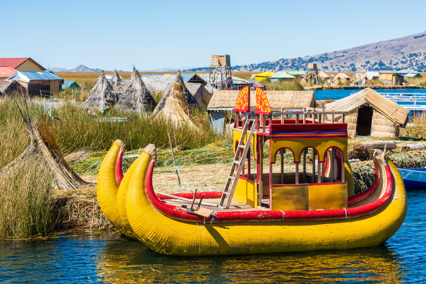 see the Uros Islands in Peru get travel advice from real families just like yours realfamilytrips.com