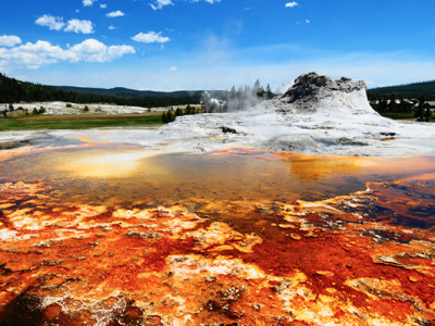 family trip to yellowstone park