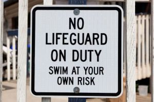 no lifeguard pool kids swimming