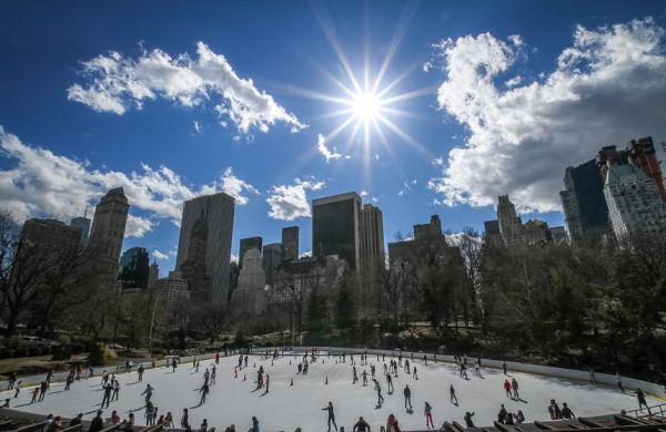 new york city NYC trump skating